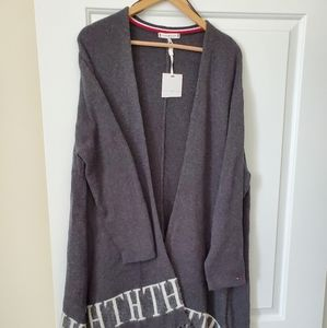 Tommy Hilfiger open cardigan poncho sweater